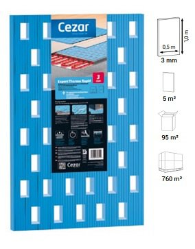 Подложка Cezar Expert Thermo Rapid 3mm